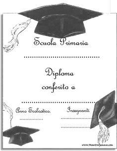 Diplomi e attestati School Gifts, Border Design, Party Ideas, Texts, Party, Graduation Frames, School, Lyrics, Calendar