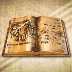 Book Pages, Bamboo Cutting Board, This Book, Keto, Reading, Birthday, Word Reading, Birthdays, Reading Books