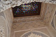 Vitrail sur le toit de l'Alhambra - Grenade, Andalousie (Espagne)