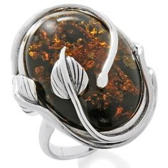 amber and silver leaf ring- i have this and love it! mines a green amber though