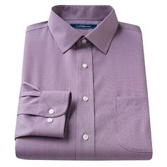 Croft and Barrow Classic-Fit Solid Non-Iron Spread-Collar Dress Shirt