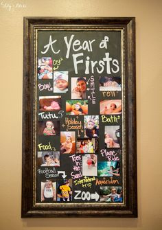Keep your kiddo's 1st birthday decor super simple — and super sweet — with a framed photo collage of all their firsts. Not only is it adorable decor for the party, it's a beautiful keepsake you'll always cherish. // First Birthday Party Ideas