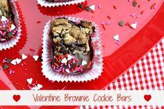 Mommy's Kitchen: Quick & Easy Valentines Day Teacher Treats {Valentine Brownie Cookie Bars}
