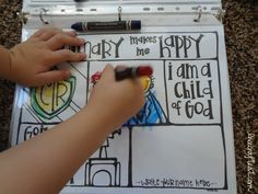 let your children color to their heart's content - using dry-erase crayons and page protectors! keep them all together in an activity/workbook binder. they'll have so much fun with this!   www.livecrafteat.com