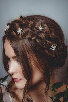 Yean Bridal Hair Clips Vingate Star Hair Pins 5 Packs Wedding Headpieces for