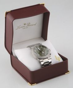 Lucien Piccard Men's Urban Chronograph Olive Green Guilloche Watch 2A-355 #LucienPiccard #UrbanChronographOliveGreenGuilloche