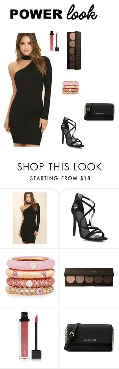 """""""Girl power!"""" by jjjunebug2 ❤ liked on Polyvore featuring LULUS, Adolfo Courrier, Jouer, Michael Kors and powerlook"""