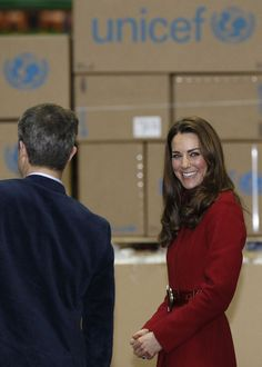 Crown Prince Frederik of Denmark and Catherine, Duchess of Cambridge during a visit to the UNICEF Emergency Supply Centre on November 2, 2011 in Copenhagen, Denmark.