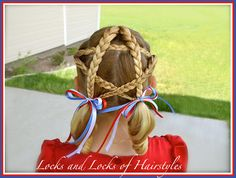 Patriotic Star Hairstyle: 4th of July star in hair