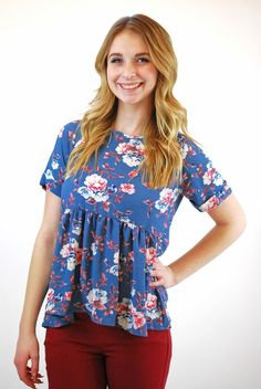 21abe25cb17e8 Ruby Floral Babydoll Online Clothing Boutiques
