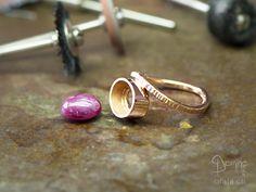 Custom made ring under construction