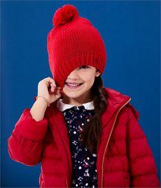 28dac68598233 Doudoune enfant fille à capuche rouge Terkuit - Petit Bateau