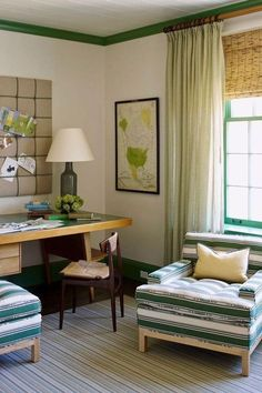 As more of us are working from home or remotely these days, finding ways to create a space to feel both inspired and productive while an entire household happens around you can be a challenge. Take a peek at these adorable work from home setups we found off of Instagram. #hunkerhome #workfromhome #workfromhomeideas #wfhideas #homeofficeideas
