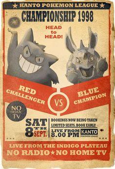 pokemon vintage posters: