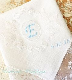 Special gift for a little girl baptism gift embroidered handkerchief baptism gift for girl personalized dated baptism custom gift bridal Special Wedding Gifts, Wedding Anniversary Gifts, Special Gifts, Fairytale Weddings, Cinderella Wedding, Baptism Gifts For Girls, Girl Baptism, Maui Weddings, Hawaii Wedding