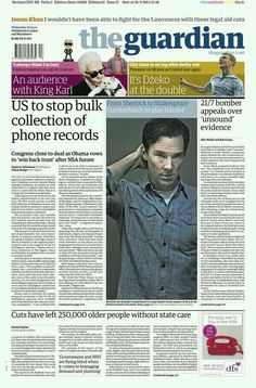The Guardian. From Sherlock to Shakespeare. Cumberbatch to play Hamlet.