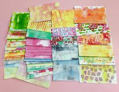Index card a day. Backgrounds for 3x5 cards using the Gelli plate #icad #icad2015 #gelli Sarah's Tentative Artsy Steps: ICAD backgrounds
