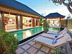 Laze on a lounger by the pool - http://www.homeaway.com.au/holiday-rental/p922802 @homeawayau #holiday #villa #bali