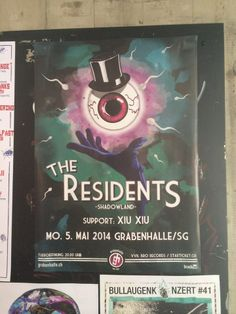 SHADOWLAND TOUR 2014 The Residents, Concert Posters, Music Posters, Music Photo, Tours, Flyers, Photos, Seven Dwarfs, Musica