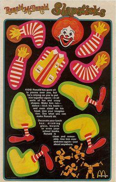 Ronald McDonald Slapsticks