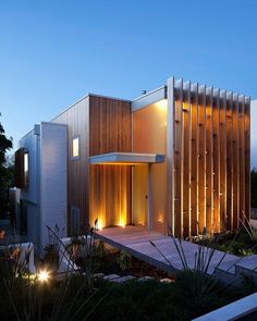 Brown vujcich house by bossley architects house design arquitectura casas, Architecture Design Concept, Cabinet D Architecture, Residential Architecture, Amazing Architecture, Contemporary Architecture, Interior Architecture, Modern Contemporary, Residential Land, Vintage Architecture