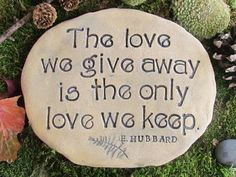 Garden stone. Love quote Romantic words. Yard art. by Poemstones