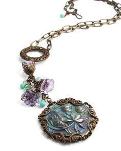 Mackenzie Mullane necklace using Vintaj products