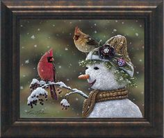 Winter Visitors II Framed Painting Print
