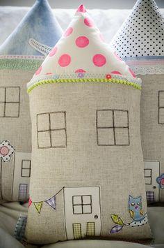 Petite Neon Dot house cushion - by littlevillagehandmade on madeit