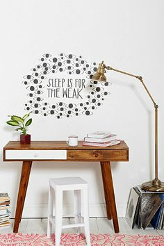 Sleep Is For The Weak Wall Decal - Urban Outfitters