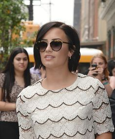 NEW YORK, NY - MAY 28: Singer Demi Lovato seen leaving her hotel on May 28, 2015 in New York City. (Photo by Raymond Hall/GC Images)