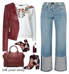 """Untitled #478"" by jovana-p-com ❤ liked on Polyvore featuring rag & bone, Alexander McQueen, Balenciaga, Burberry, Laurence Dacade, MAC Cosmetics and Tim Holtz"
