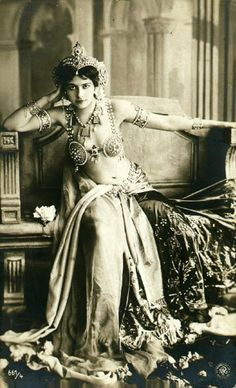 Mata Hari in Paris, Photo by Leopold-Emile Reutlinger, 1910s.  Mara Hara was in Paris between 1905 and 1917.  Mata Hari was a Dutch exotic dancer and courtesan who was convicted of being a spy and executed by firing squad in France on 15 October 1917...