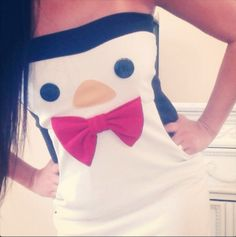 Yes I would wear this penguin dress with red toms