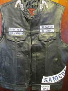 Sons of Anarchy- Tribute- In Memory Of- Genuine Leather Vest