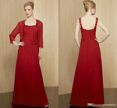 Mother In Law Dresses, Mothers Dresses, Mob Dresses, Bride Dresses, Formal Dresses, Bride Groom Dress, Red Chiffon, Lace Corset, Jacket Dress