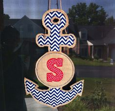 Personalized Nautical Anchor Door Hanger for SLPs by Dean Trout