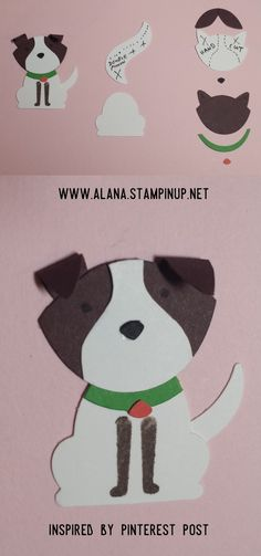 Dog No.1 Punch Art. Using Foxy Friends Stamp Set and Foxy Builder Punch from Stampin\' Up!