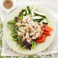 Greek Chicken Salad Greek Chicken Salad, Greek Salad Recipes, Greek Dishes, Green Tomatoes, Rotisserie Chicken, Deli, Cobb Salad, Potato Salad, Ethnic Recipes