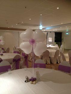 Christening table decor lilac theme