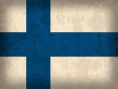 Finland Flag Vintage Distressed Finish Mixed Media