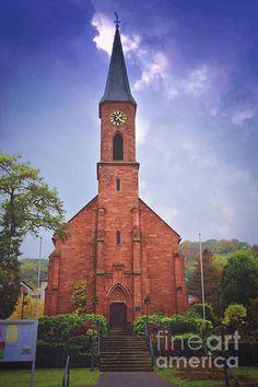 http://fineartamerica.com/featured/landstuhl-fall-photos-by-zulma.html?newartwork=true #Germany #Zulma #Landstuhl #Church #Deutschland