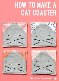 How to make a Cat Coaster - Dear Handmade LIfe