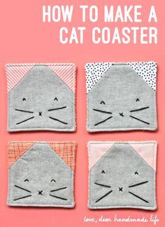 DIY: kitty coasters