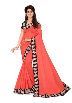 Buy Hug Collection of sarees Like Designer Saree,Wedding Sarees,Cotton Sarees,Party wear Saree and More For All Occasion And Festival, Shop Now Get Discount Up to Off Cash On Delivery Available ! Peach Saree, Queen