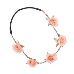 Festival Peach Flower Headband - Hair accessories - Jewellery - Women -