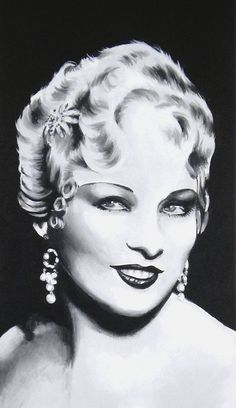 Mae West Black and White Celebrity Portrait by faerytalewings, $225.00