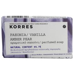 Korres Peonia, Vanilla, Amber And Pear Soap 125g ($9.14) ❤ liked on Polyvore featuring beauty products, bath & body products, body cleansers, beauty, fillers, makeup, soap, accessories and korres