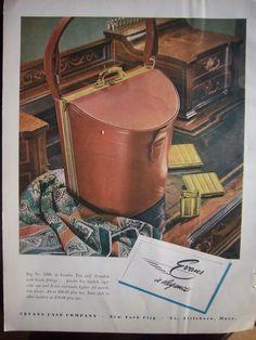 1948 Vintage Evans Handbag Purse No 1900 London Tan Calf Color Fashion Ad | eBay