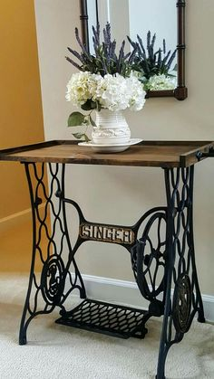 Repurposing an Antique Sewing Machine Base